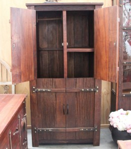 BB107 Recycled Teak Tall Wardrobe 2