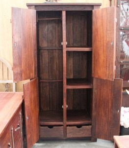 BB107 Recycled Teak Tall Wardrobe 3