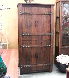 BB107 Recycled Teak Tall Wardrobe