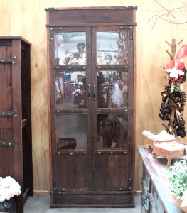 BB108 Recycled Teak Display Cabinet 2