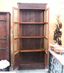 BB108 Recycled Teak Display Cabinet 4