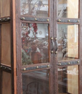 BB108 Recycled Teak Display Cabinet 5
