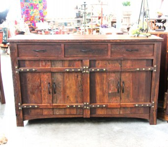 BB109 Recycled Teak Cabinet 3 drawer 2 cupboard 2