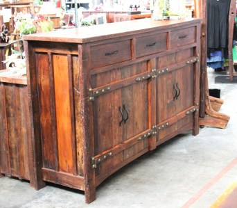 BB109 Recycled Teak Cabinet 3 drawer 2 cupboard