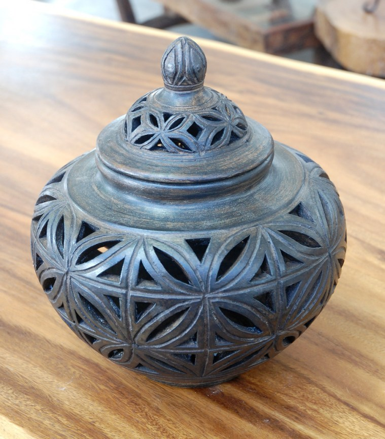 Clay Urn with Lid 3