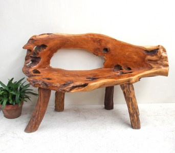 Etnik 1 Reclaimed Teak Root 2 seater bench seat3