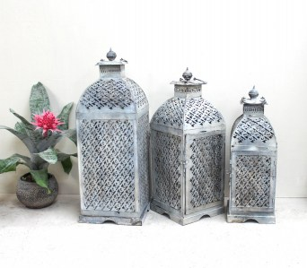 GE11 Lantern - Antique White 3 sizes