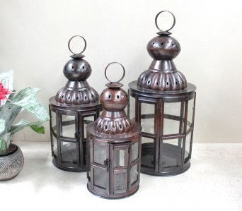 GE7 Hexagon Bronze Lantern