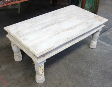 Indian white wash coffee table