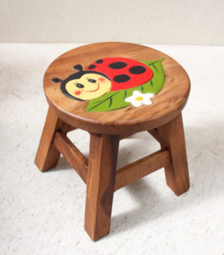 Kids Stool - Lady Bird on Leaf 2-342x3909