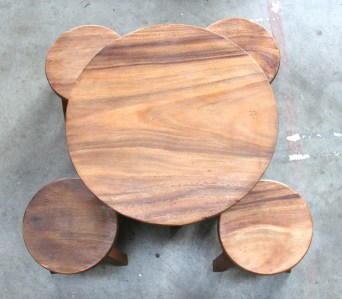 Kids round table and stool set 1
