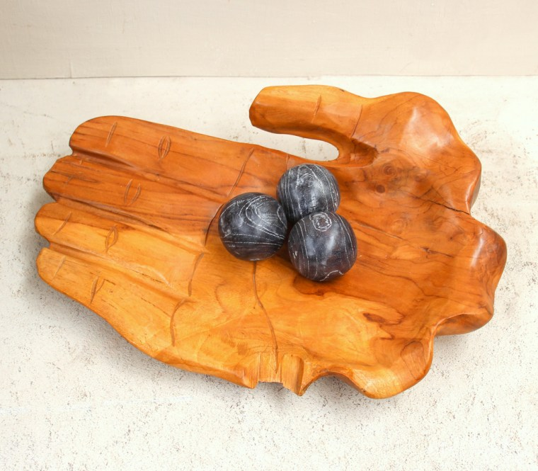 Recycled Teak Hand Bowl 2