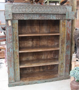 Vintage Indian Teak Bookcase AJ-20 2
